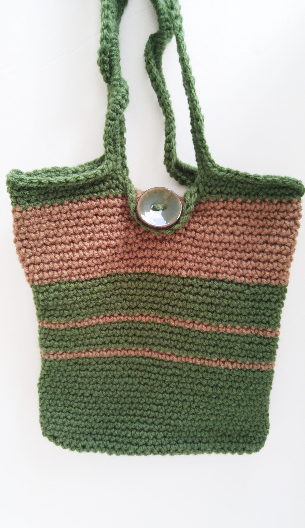 Green and Brown Handbag