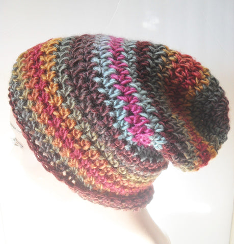 Brown Stripe Beanie