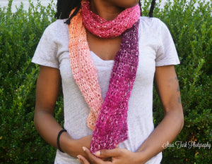 Pink Lacy Scarf