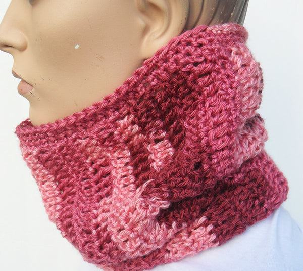 Pink Hat Scarf Combo