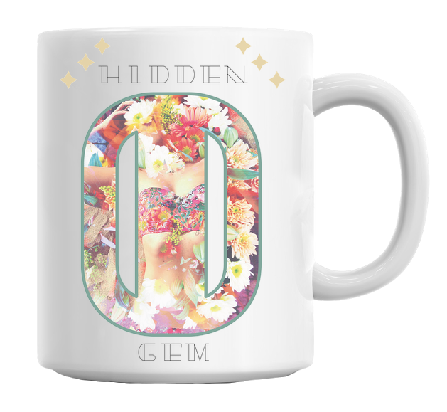 Hidden Gem Floral Pattern Mug