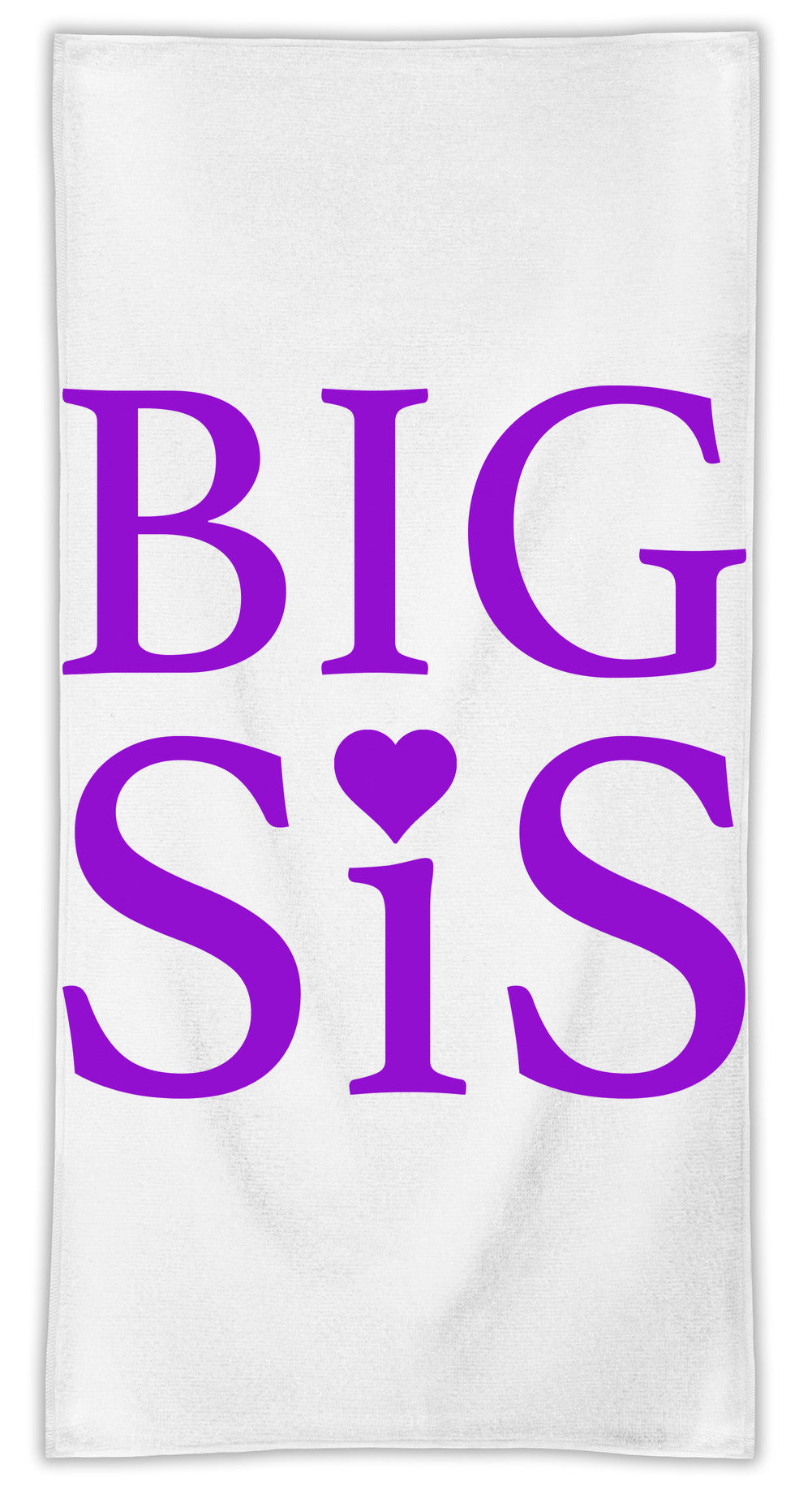 Big Sis  MicroFiber Towel W/ Custom Printed Designs| Eco-Friendly Material| Machine Washable| Available in 3 sizes| Premium Bathroom Supplies By Styleart