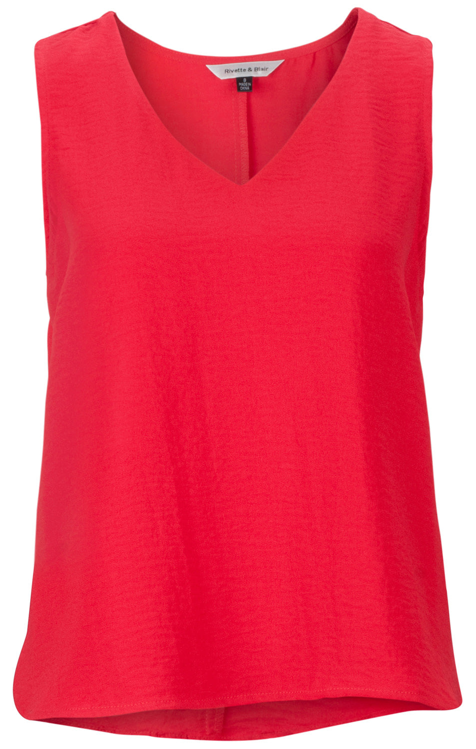 9ed9ae4643bc7 Red V Neck Shell Top - Rivette and Blair