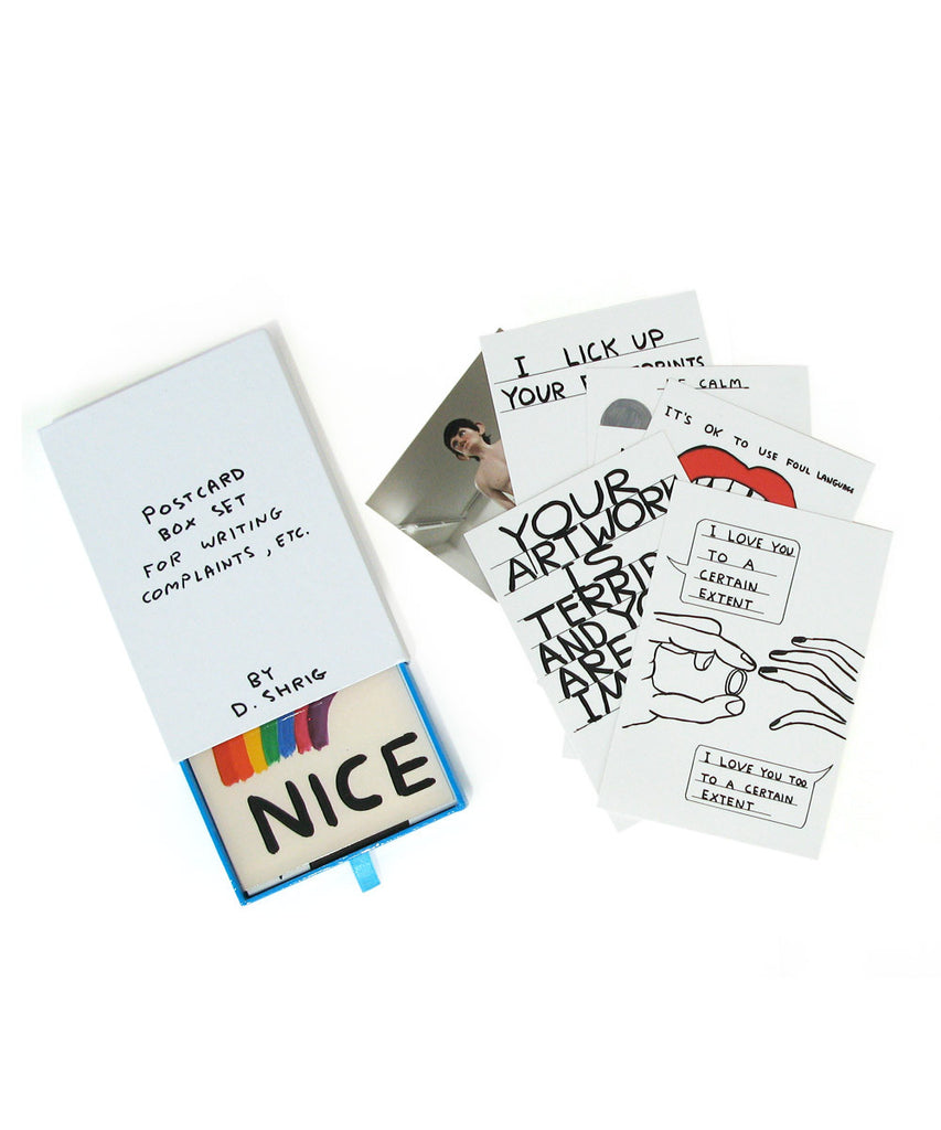 Postcard Set X David Shrigley