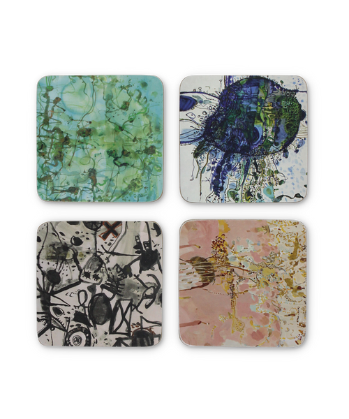 Cork Coaster Set X John Olsen