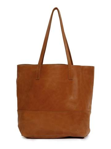 Mamuye Leather Tote Bag - Chestnut