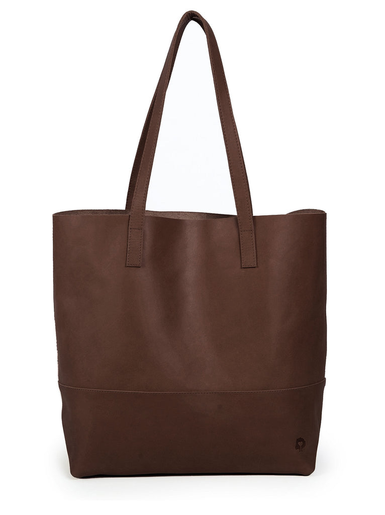 Mamuye Leather Tote Bag - Chocolate Brown