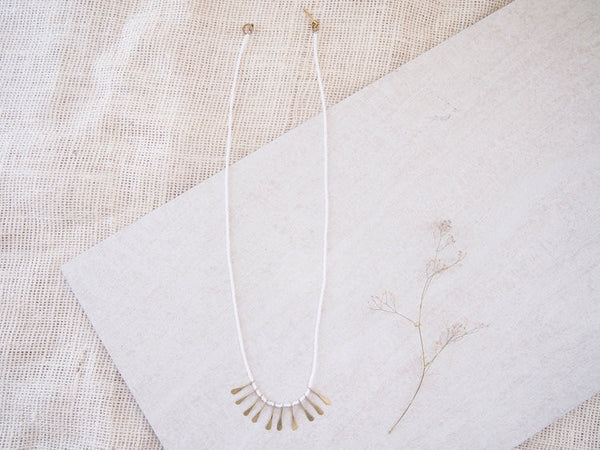Modern Masai Necklace - white