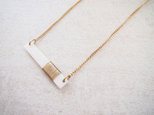 Coiled Bar Necklace
