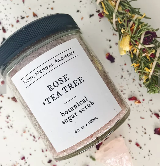 Kore Herbal Alchemy Botanical Scrub - Rose + Tea Tree
