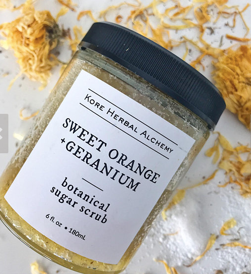 Kore Herbal Alchemy Botanical Scrub -Sweet Orange Geranium