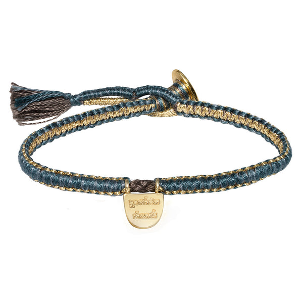 """Limitless"" Bracelet - Teal Cobra Stitch"