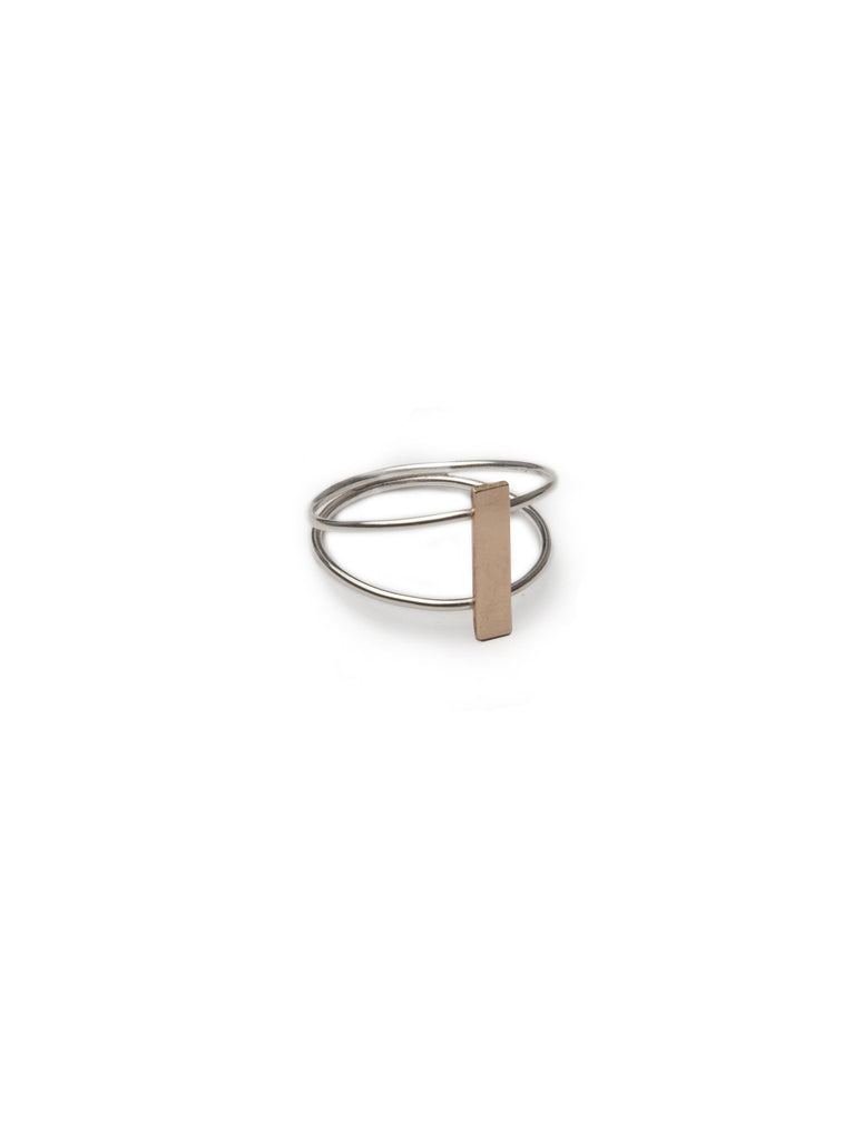 Two Tone Bridge Ring