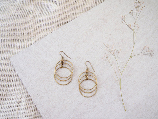 Falling Circles Earrings