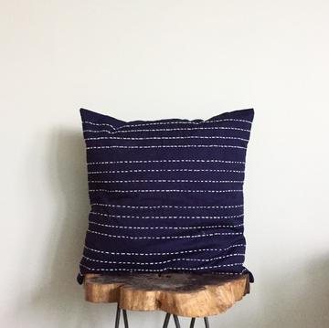 Kantha Stitch Pillow