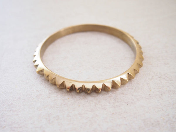 Pyramid Brass Bangle