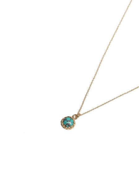 Petite Layering Necklace - Turquoise