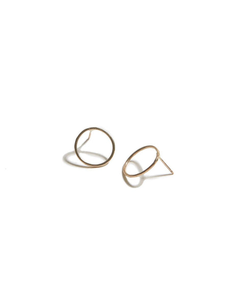 Circle Studs - gold or silver