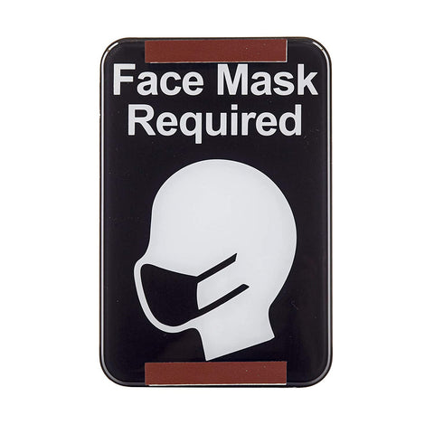 "TableCraft 10706 6"" x 9"" ""Face Mask Required"" Sign"