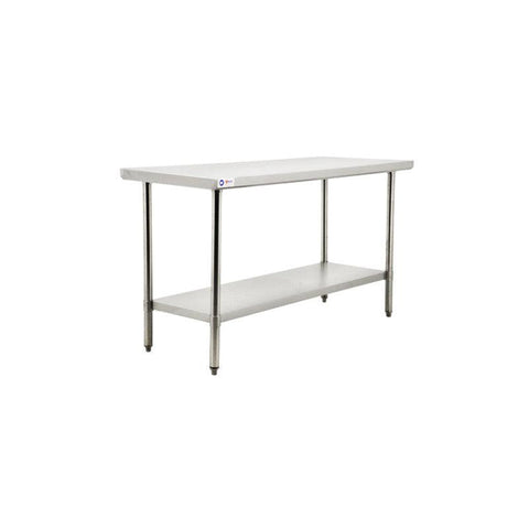 "NELLA 24"" x 48"" STAINLESS STEEL TABLE - 22066"