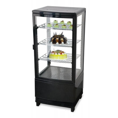 "Nella 17"" Countertop Four Sided Glass Refrigerated Showcase - 2.8 Cu. Ft. - 25826"