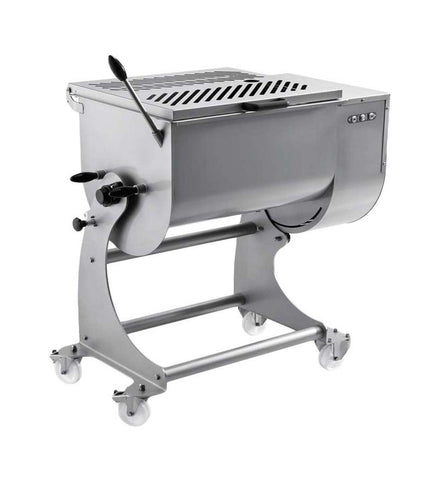 NELLA 37450 80 KG DUAL PADDLE STAINLESS STEEL TILTING HEAVY-DUTY MEAT MIXER