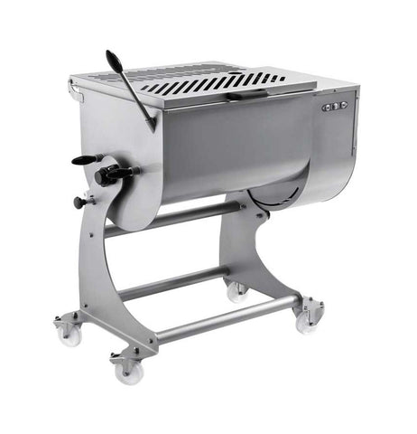 NELLA 37451 120 KG DUAL PADDLE STAINLESS STEEL TILTING HEAVY-DUTY MEAT MIXER
