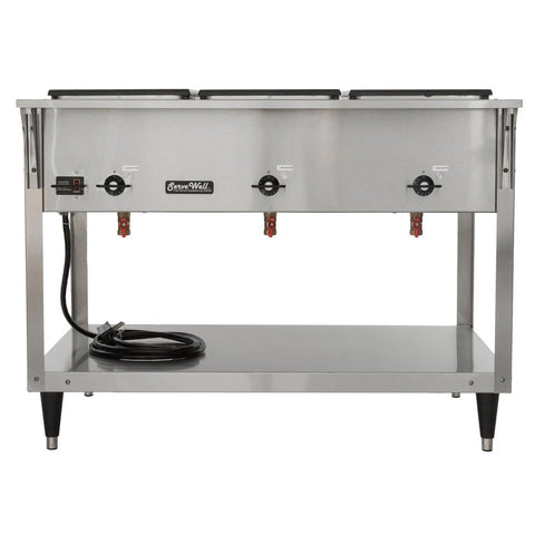 Vollrath 38213 Servewell SL Electric Three Pan Hot Food Table - 120V/2,100W