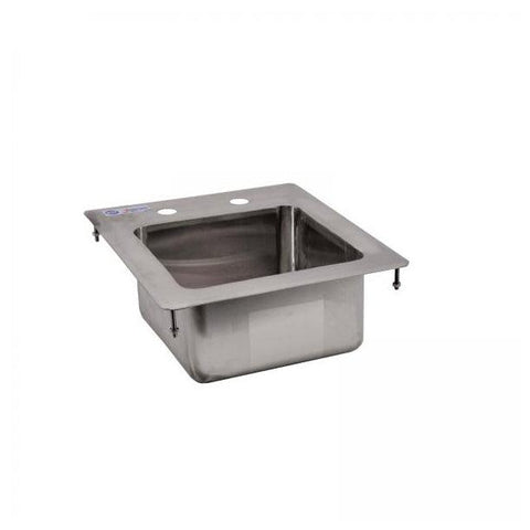 "NELLA 39778 9"" x 9"" x 5"" ONE TUB FLAT TOP STAINLESS STEEL DROP IN SINK"