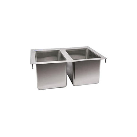 "NELLA 39782 10"" x 14"" x 10"" TWO TUB FLAT TOP DROP IN SINK"