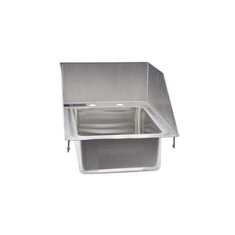 "NELLA ONE TUB DROP IN SINK WITH 6"" LEFT-BACK-RIGHT SPLASH - 39785"