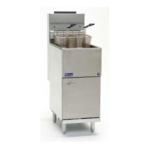 PITCO ECONOMY TUBE FIRED GAS FRYER 40C+