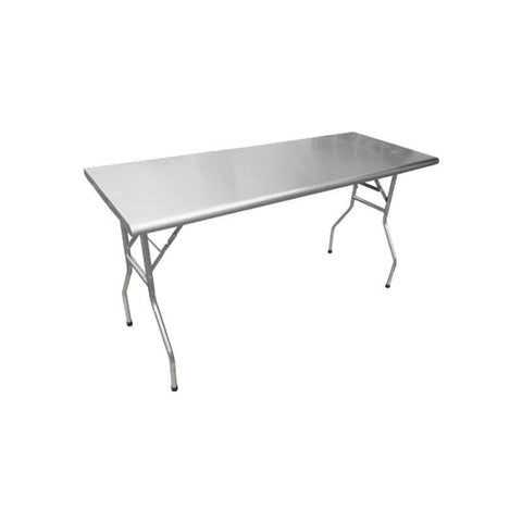 "NELLA STAINLESS STEEL FOLDING TABLE - 24"" x 72"" - 41231"