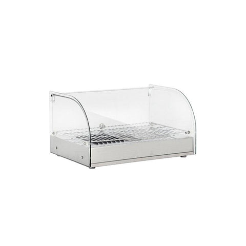 "NELLA 15"" COUNTERTOP DISPLAY WARMER WITH FRONT CURVED GLASS - 41868 - Nella Cutlery Toronto"