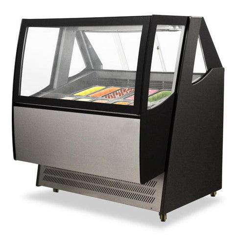 "Nella 49"" Refrigerated Ice Cream Display Case With LED Lights - 43118"