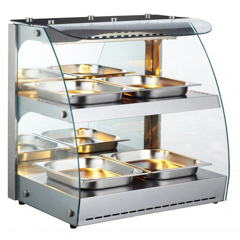 Nella Double Shelf Self-Serve Heated Open Display Warmer - 43121