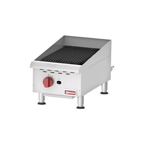 "NELLA 15"" COUNTERTOP STAINLESS STEEL GAS CHAR-BROILER - CBR15 - 43736"