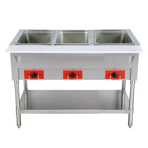 "Nella 44"" Stainless Steel Electric 3 Well Hot Food Table - 44408"