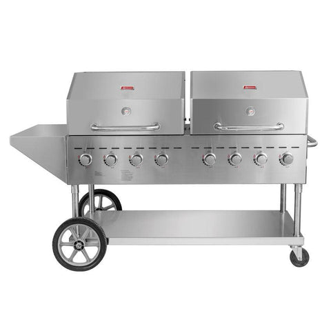 "Nella 44492 80"" Outdoor BBQ Grill with 8 Burners - Liquid Propane"