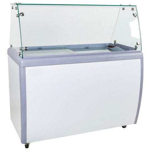 "Nella 50"" Ice Cream Dipping Freezer with Flat Sneeze Guard - 44588"