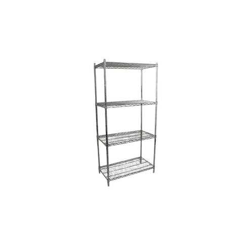 "NELLA 45166 18"" x 60"" CHROME STOCK SHELVE KIT"