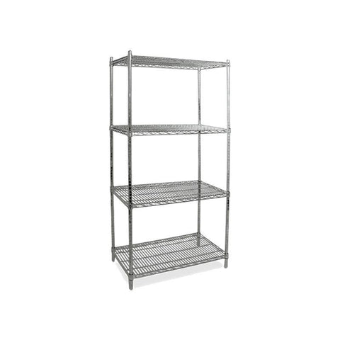 "NELLA 36"" CHROME STOCK SHELVES - 45167"