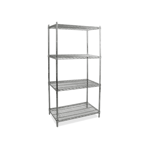 "NELLA 60"" CHROME STOCK SHELVES - 45169"