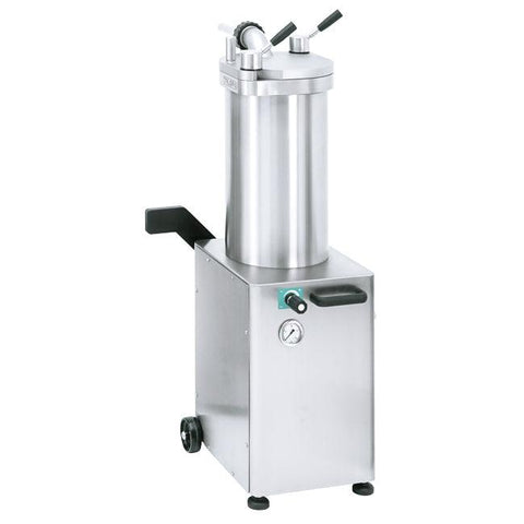 Nella 26 lb / 11 kg Stainless Steel Hydraulic Sausage Stuffer 220V/60hz/1PH - 46098