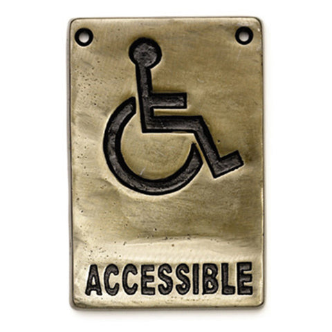 "Table Craft 465632 4"" x 6"" Information Sign - ""Accessible"""
