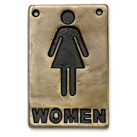 "Table Craft 465634 4"" x 6"" Information Sign - ""Women"""