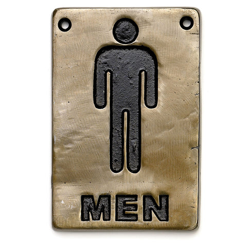 "Table Craft 465635 4"" x 6"" Information Sign - ""Men"""