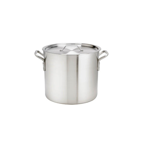 Browne 5813132 32 Qt. Thermalloy Aluminum Standard Weight Stock Pot