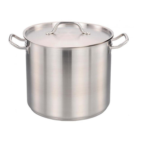 Nella 12 Qt. Stainless Steel Stock Pot with Cover - 80438