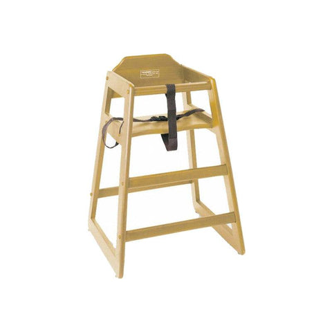 NELLA WOODEN HIGH CHAIR - NATURAL - 80610